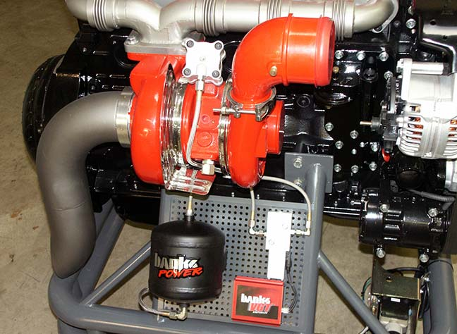 VG turbo and controller on Banks Sidewinder engine
