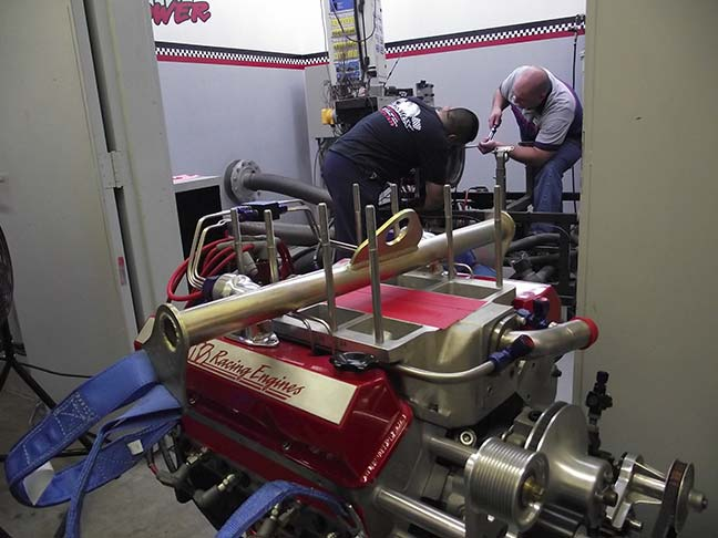 Preparing the engine dyno room for the Studebaker's engine