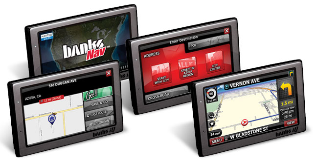 Banks iQ navigation screens