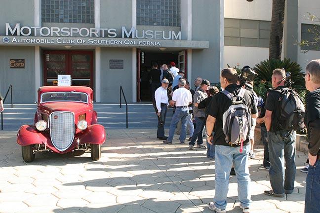 NHRA museum crowed outside