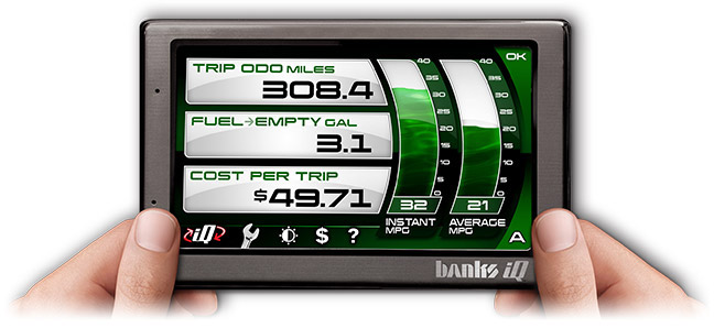 Banks iQ fuel economy features