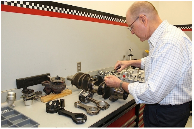 Gale Banks in his engine room