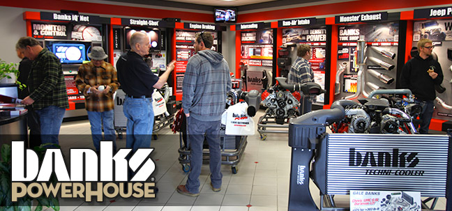 Banks PowerHouse is our showroom that is open to the public. Come on in and purchase Banks products, and have them installed.
