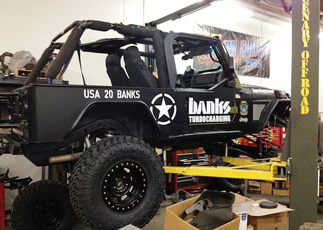 Installing Nitto Tires and Bilstein suspension on the Banks Sidewinder Turbo Jeep
