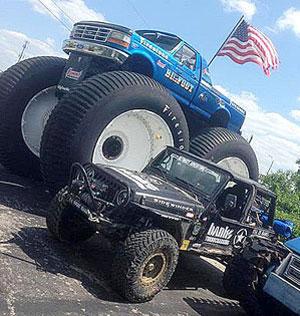 Bigfoot and Banks Sidewinder Turbo Jeep