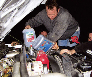 Checking all fluids