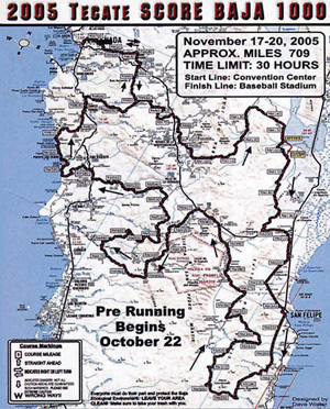 2005 Baja 1000 Map