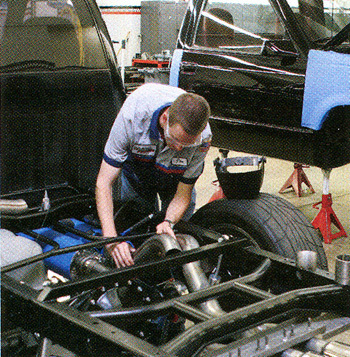 Working on the Rat Rod