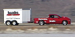Banks Sidewinder towing it's own trailer