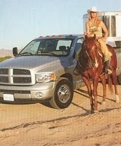 Truck owner and rodeo rider Julie Hayden