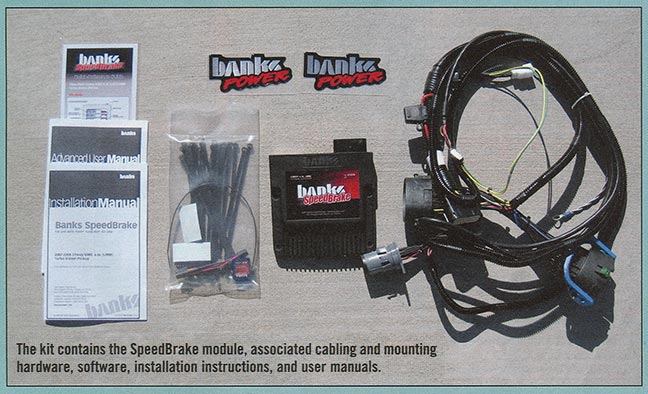 This kit contains the SpeedBrake module, associated cabling, and mounting hardware, software, installation instructions, and user manuals.
