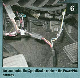 SpeedBrake connected to PowerPDA