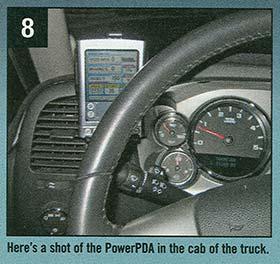 PowerPDA in truck