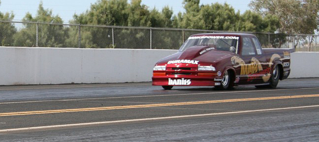 Banks Sidewinder S-10 down the track