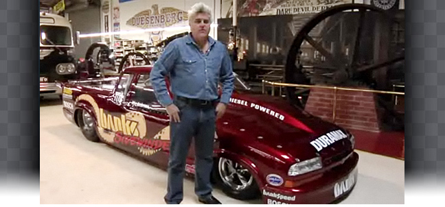 Jay Leno gets a visit from the Sidewinder S-10