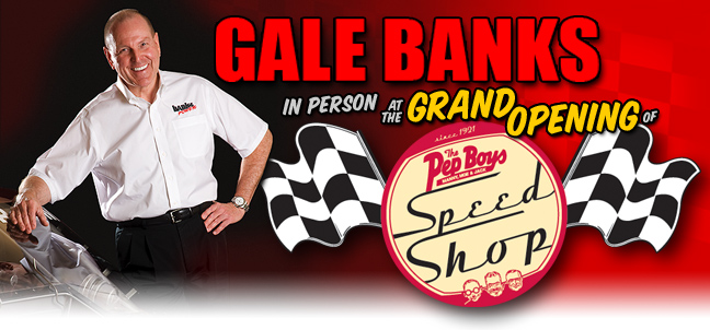 Gale Banks at Pep Boys Grand Opening