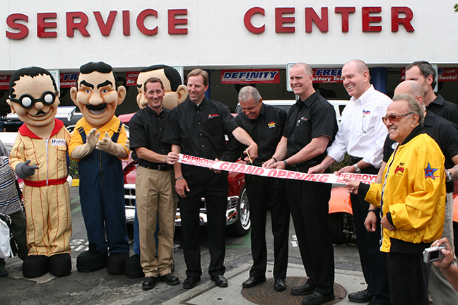 ribbon cutting at the Pep Boys Speed Shop