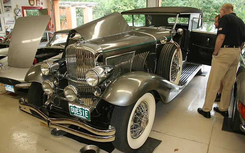 Gale Banks takes in the beauty, elegance and mechanical marvels of the Donner family collection including this gorgeous Duesenberg and stunning Ferrari.