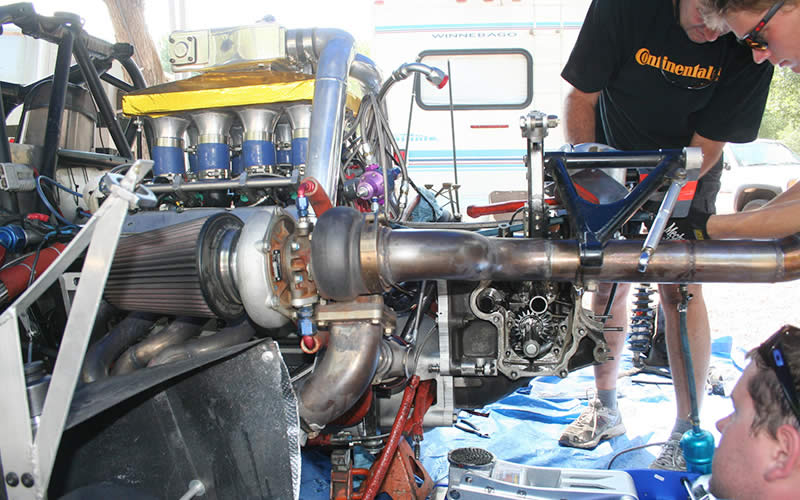 With the transaxle torn down the team was able to make the necessary repairs.